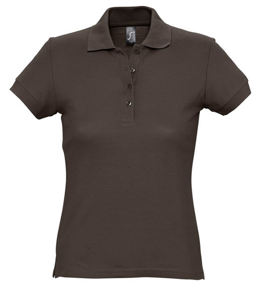 Koszulki Polo Ladies S 11338 PASSION 170 - 11338_chocolate_S - Kolor: Chocolate