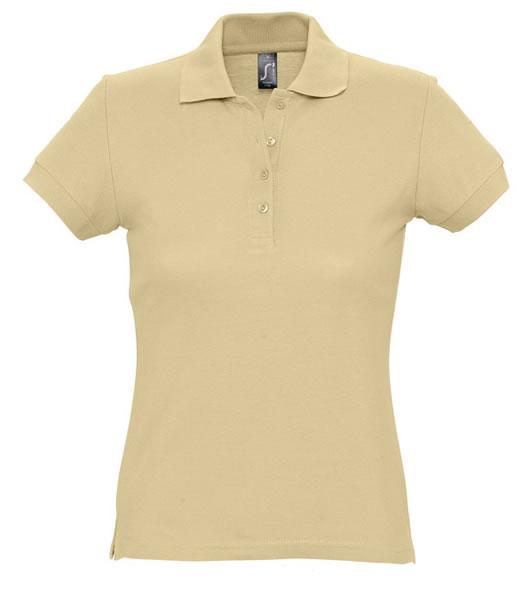 Koszulki Polo Ladies S 11338 PASSION 170 - 11338_sand_S - Kolor: Sand