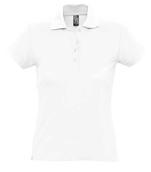 Koszulki Polo Ladies S 11338 PASSION 170 - 11338_white_S - Kolor: White