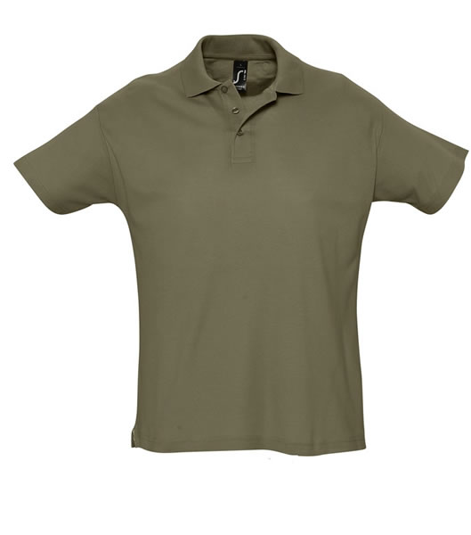 Koszulki Polo S 11342 SUMMER II 170 - 11342_army_S - Kolor: Army