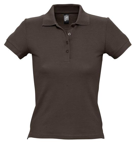 Koszulki Polo Ladies S 11310 PEOPLE 210 - 11310_chocolate_S - Kolor: Chocolate