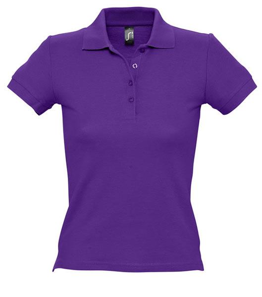 Koszulki Polo Ladies S 11310 PEOPLE 210 - 11310_dark_purple_S - Kolor: Dark purple