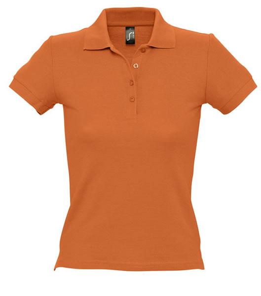 Koszulki Polo Ladies S 11310 PEOPLE 210 - 11310_orange_S - Kolor: Orange