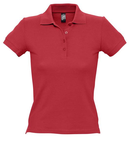 Koszulki Polo Ladies S 11310 PEOPLE 210 - 11310_red_S - Kolor: Red
