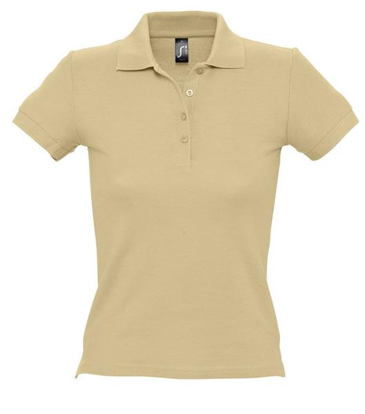 Koszulki Polo Ladies S 11310 PEOPLE 210 - 11310_sand_S - Kolor: Sand