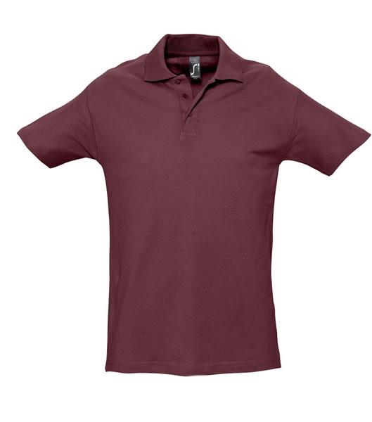 Koszulki Polo S 11362 SPRING II 210 - 11362_burgundy_S - Kolor: Burgundy