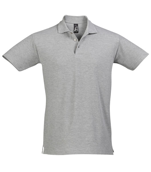 Koszulki Polo S 11362 SPRING II 210 - 11362_grey_melange_S - Kolor: Grey melange