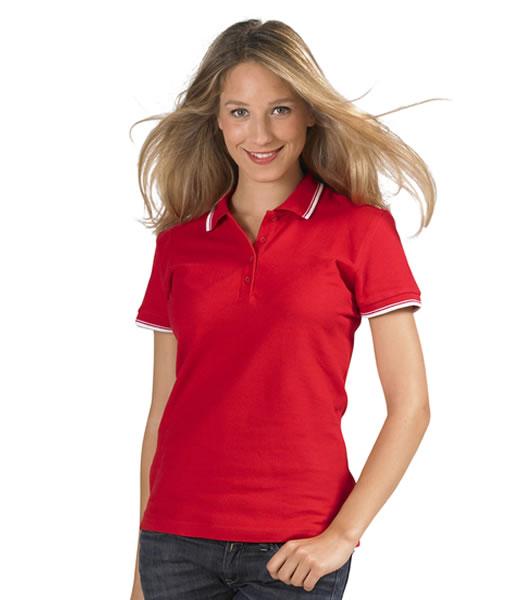 Koszulki Polo Ladies S 11366 PRACTICE WOMEN 270 - 11366_red_white_S - Kolor: Red / White