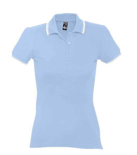 Koszulki Polo Ladies S 11366 PRACTICE WOMEN 270 - 11366_skyblue_white_S - Kolor: Sky blue / White