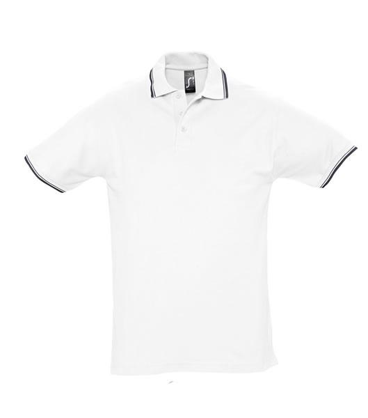 Koszulki Polo S 11365 PRACTICE 270 - 11365_white_navy_A - Kolor: White / Navy