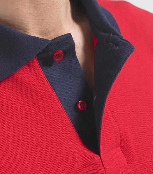 Koszulki Polo S 11369 PRINCE 200 - 11369_zoom_S - Kolor: Red / French navy