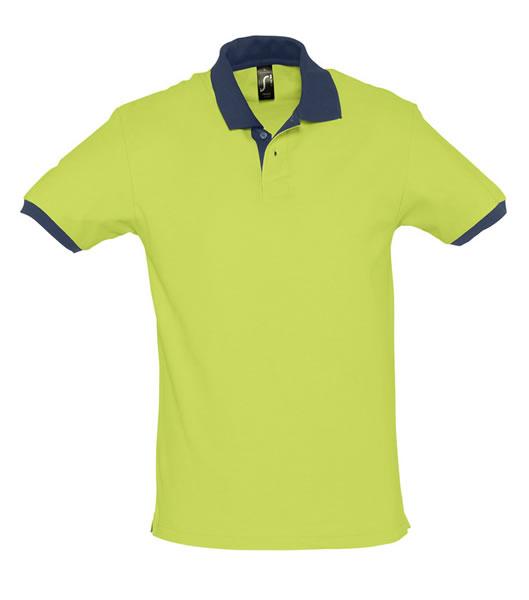 Koszulki Polo S 11369 PRINCE 200 - 11369_applegreen_frenchnavy_S - Kolor: Apple green / French navy