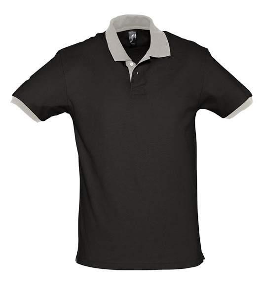 Koszulki Polo S 11369 PRINCE 200 - 11369_black_lightgrey_S - Kolor: Black / Light grey