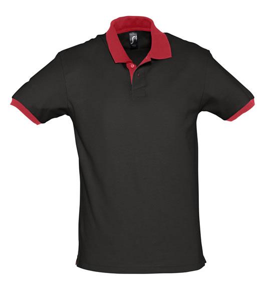 Koszulki Polo S 11369 PRINCE 200 - 11369_black_red_S - Kolor: Black / Red