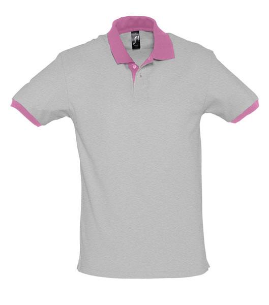 Koszulki Polo S 11369 PRINCE 200 - 11369_greymelange_orchidpink_S - Kolor: Grey melange / Orchid pink