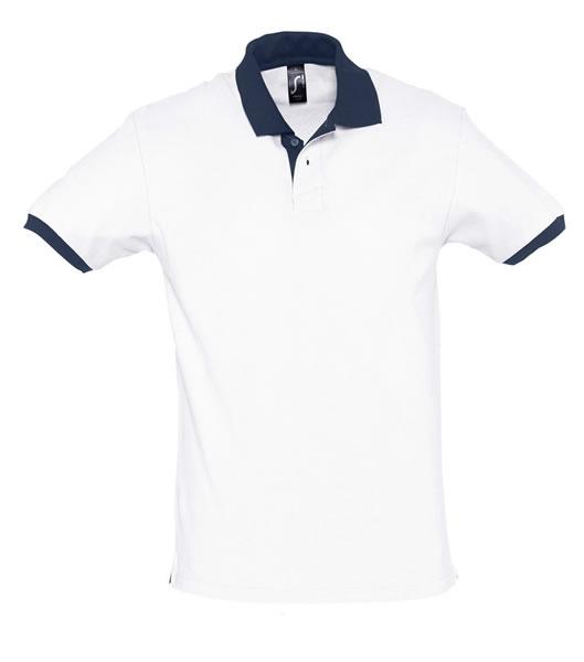 Koszulki Polo S 11369 PRINCE 200 - 11369_white_frenchnavy_S - Kolor: White / French navy