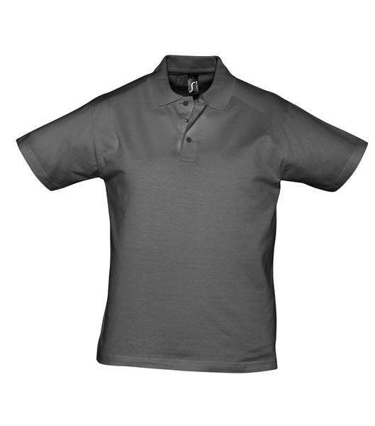 Koszulki Polo S 11377 PRESCOTT MEN 170 - 11377_dark_grey_S - Kolor: Dark grey