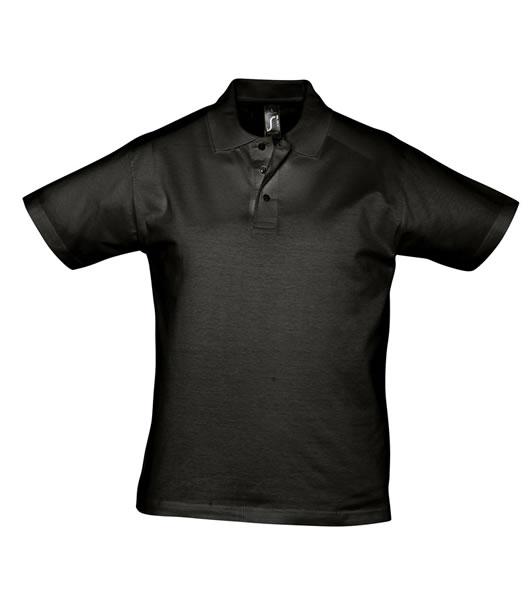 Koszulki Polo S 11377 PRESCOTT MEN 170 - 11377_deep_black_S - Kolor: Deep black