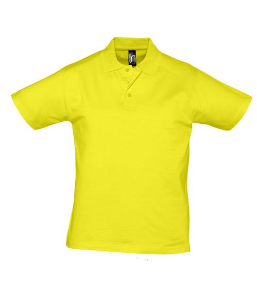 Koszulki Polo S 11377 PRESCOTT MEN 170 - 11377_lemon_S - Kolor: Lemon