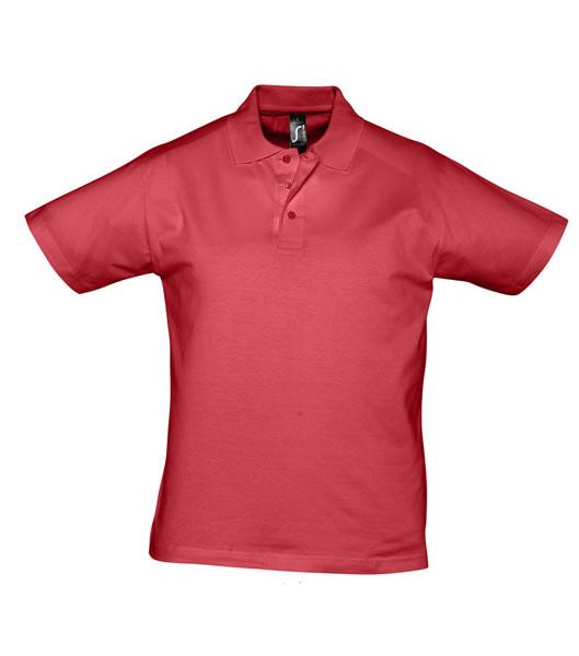 Koszulki Polo S 11377 PRESCOTT MEN 170 - 11377_red_S - Kolor: Red