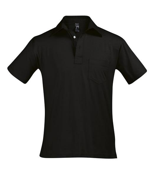 Koszulki Polo S 11312 PARITY 150 - 11312_black_S - Kolor: Black
