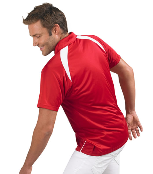 Koszulki Polo S 11418 PALLADIUM 140 - 11418_detale_S - Kolor: Red / White