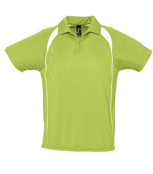 Koszulki Polo S 11418 PALLADIUM 140 - 11418_apllegreen_white_S - Kolor: Aplle green / White
