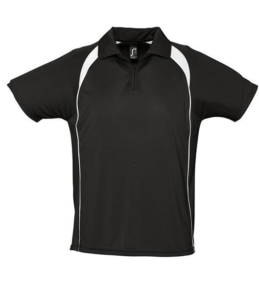 Koszulki Polo S 11418 PALLADIUM 140 - 11418_black_white_S - Kolor: Black / White