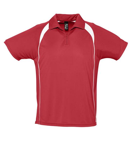 Koszulki Polo S 11418 PALLADIUM 140 - 11418_red_white_S - Kolor: Red / White