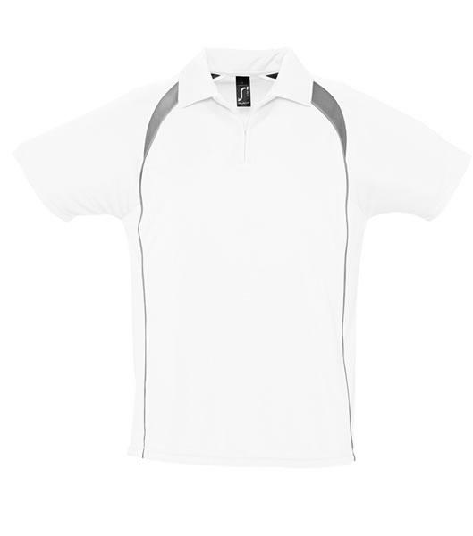 Koszulki Polo S 11418 PALLADIUM 140 - 11418_white_darkgrey_S - Kolor: White / Dark grey