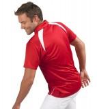 Koszulki Polo S 11418 PALLADIUM 140 - 11418_detale_S Red / White