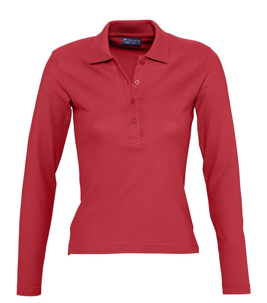 Koszulki Polo Ladies S 11317 PODIUM 210 - 11317_red_S - Kolor: Red
