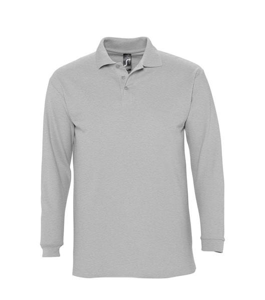 Koszulki Polo S 11353 WINTER II 210 - 11353_grey_melange_S - Kolor: Grey melange