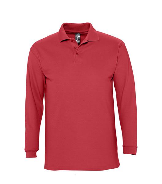 Koszulki Polo S 11353 WINTER II 210 - 11353_red_S - Kolor: Red
