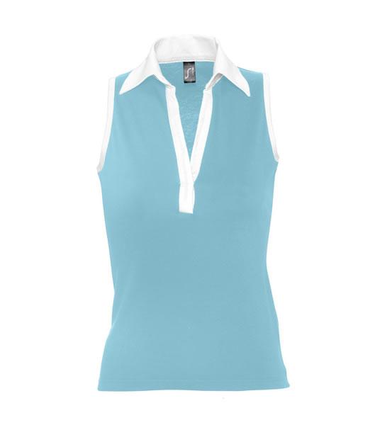 Koszulki Polo Ladies S 11333 PARADE 170 - 11333_atollblue_white_S - Kolor: Atolle blue / White
