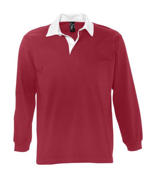 Koszulki Polo S 11313 PACK 280 - 11313_carminered_white_S - Kolor: Carmine red / White
