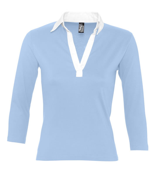 Koszulki Polo Ladies S 11329 PANCH 190 - 11329_skyblue_white_S - Kolor: Sky blue / White