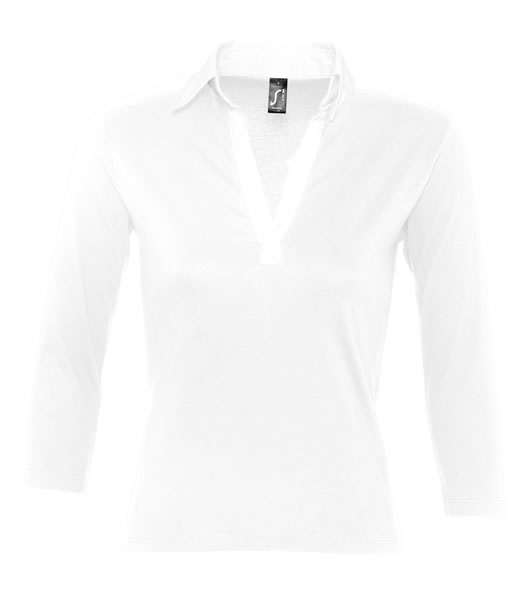 Koszulki Polo Ladies S 11329 PANCH 190 - 11329_white_white_S - Kolor: White / White