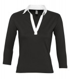 Koszulki Polo Ladies S 11329 PANCH 190 - 11329_black_white_S Black / White