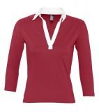Koszulki Polo Ladies S 11329 PANCH 190 - 11329_carminered_white_S Carmine red / White