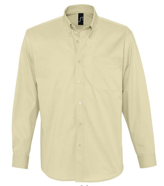 Koszula S 16090 BEL-AIR  - 16090_beige_S - Kolor: Beige