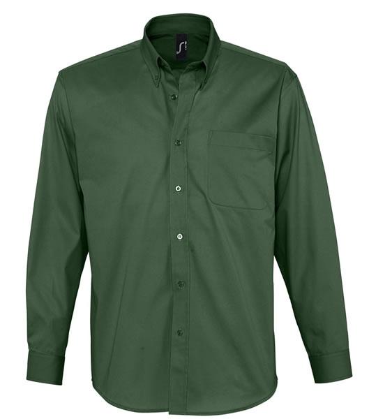 Koszula S 16090 BEL-AIR  - 16090_bottle_green_S - Kolor: Bottle green