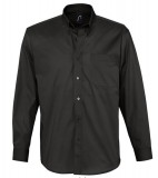 Koszula S 16090 BEL-AIR  - 16090_black_S Black