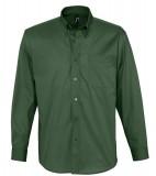 Koszula S 16090 BEL-AIR  - 16090_bottle_green_S Bottle green