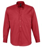 Koszula S 16090 BEL-AIR  - 16090_red_S Red
