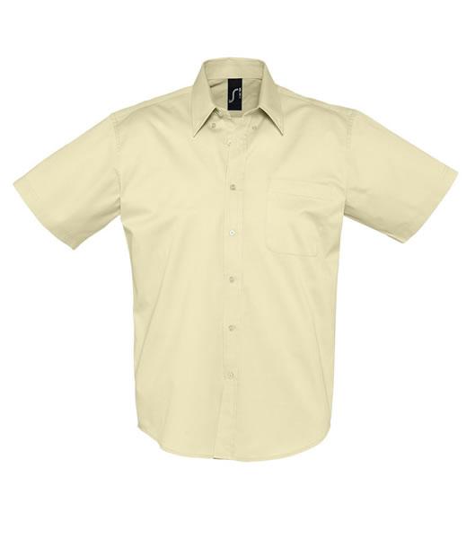Koszula S 16080 BROOKLYN - 16080_beige_S - Kolor: Beige
