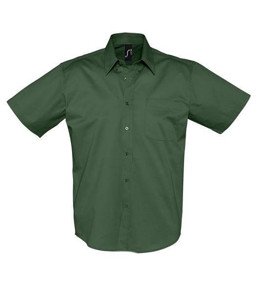 Koszula S 16080 BROOKLYN - 16080_bottle_green_S - Kolor: Bottle green