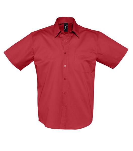 Koszula S 16080 BROOKLYN - 16080_red_S - Kolor: Red