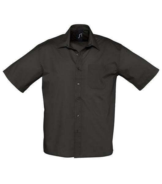 Koszula S 16050 BRISTOL - 16050_black_S - Kolor: Black