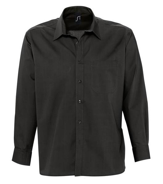 Koszula S 17060 BRADFORD  - 17060_black_S - Kolor: Black